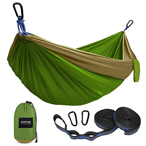 Kootek Camping Hammock Double & Single Portable Hammocks with 2