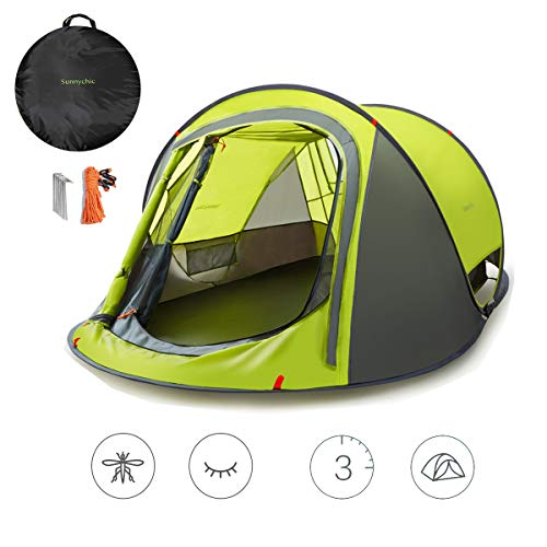Sunnychic Pop Up Tent Camping Tent, Automatic Instant Setup Pop Up Instant Tent with Sun Shelter UV Protection, Portable…