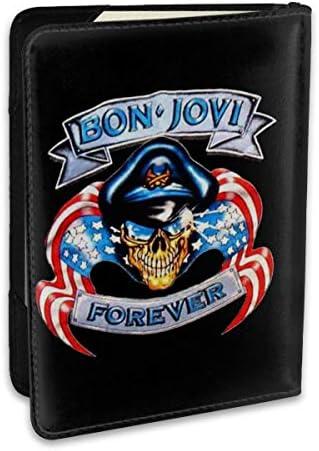 Bon Jovi ボンジョヴィ パスポートケース メンズ 男女兼用 パスポートカバー パスポート用カバー パスポートバッグ ポーチ 6.5インチ高級PUレザー 三つのカードケース 家族 国内海外旅行用品 多機能