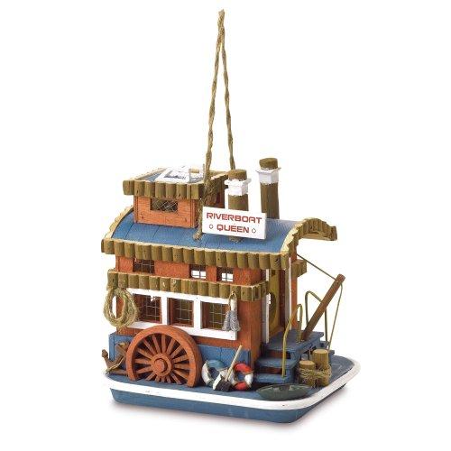 Gifts & Decor Riverboat Queen Outdoor Wooden Bird House/Feeder - Queen Riverboat