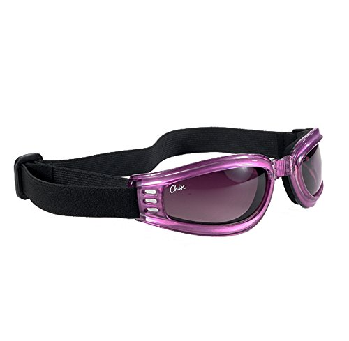 CHIX Nomad Smoke Gradient Lens Pearl Purple Frame Goggles w/ - Goggle Sport