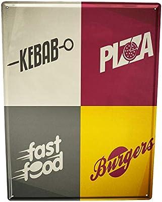 Blechschild Nostalgie Fun Burgers