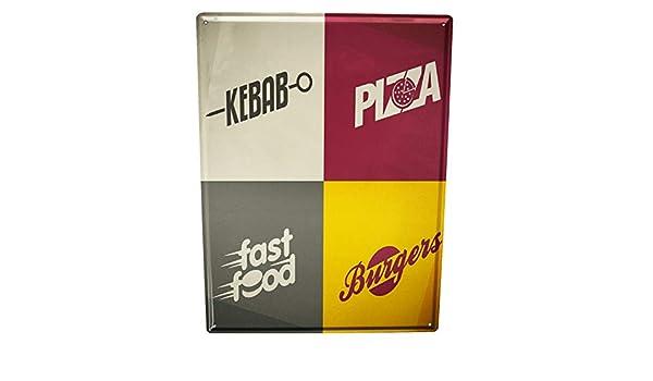 LEotiE SINCE 2004 Cartel Letrero de Chapa XXL Retro Pizza ...