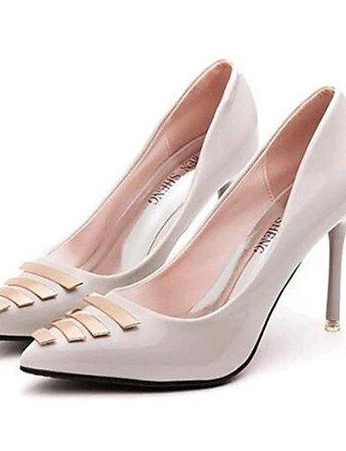 Abend Schuhe cn34 us5 Sommer Party Damen uk3 Kleid Heels Heels Frühjahr GGX Hochzeit Kunstleder eu35 Stiletto Absatz red amp; Herbst 5PSnH
