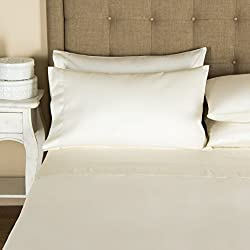 Mayfair Linen Hotel Collection 100% Egyptian Cotton 800 Thread Count Sheet Set Queen Ivory