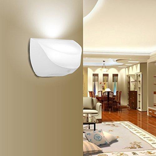 ZEEFO Night Lights Bright Waterproof IP44 Motion Sensor LED Wall Night Light with Rechargeable ...