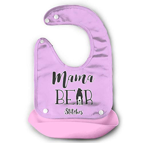 Price comparison product image Mama Bear Children Drooling Bib Food Catcher Silicone,Waterproof Easy Wipe Clean