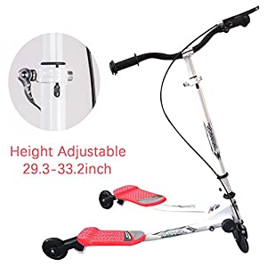 Rampmu Y Flicker Scooter for Kids, 3 Wheel Foldable Wiggle Scissor Slicker Drifting Scooter Age 5+ (US STOCK)