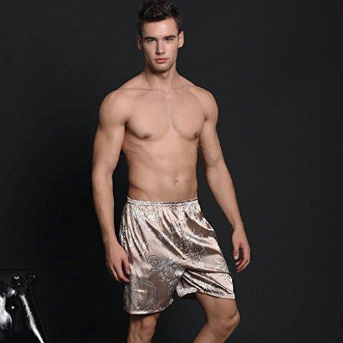Molla Lunghe Maniche Di Pigiama Autunno Degli Ghiaccio Shorts E Accappatoi Casuali Pantaloncini Della Del Gaolili Seta A Camicie Uomini RFqxgwB