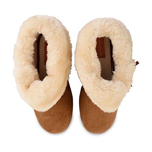 Pelliccia Pelle In Rivestimento Sintetica Scamosciata Per Famosa Signore Dunlop Con Caldo Mocassino Pantofola Le SwqC76y
