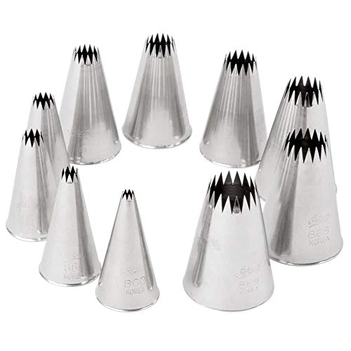 Ateco 870 - French Star Pastry Tips Set (860-869)
