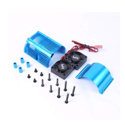 Yeah Racing YA-0261BU Heat Sink w/Twin Tornado High Speed Fan Blue 1:8 Motors