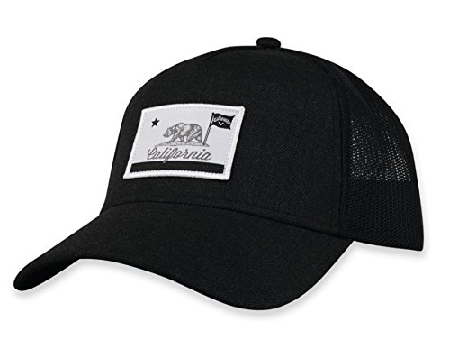 Amazon Com Callaway Golf 2018 Cali Adjustable Trucker Hat Black