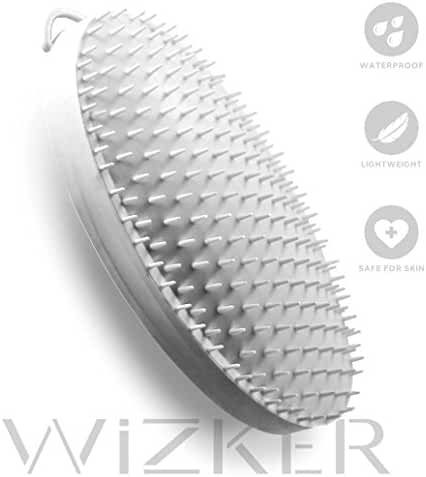 WIZKER Brush: Eliminates Razor Bumps and Prevents Ingrown Hairs, FirmFlex Exfoliating Bristles, Sealed Box
