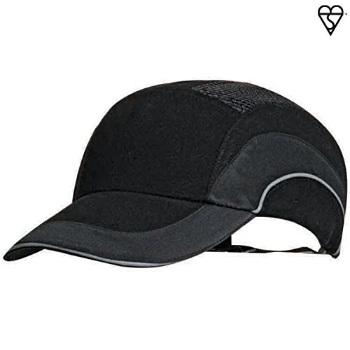 HardCap A1+ 282-ABR170-11 Standard Brim Baseball Style Bump Cap with HDPE Protective Liner and Adjustable Back ()