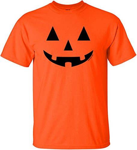 JACK O' LANTERN PUMPKIN Halloween Costume Orange T-Shirt-XL]()