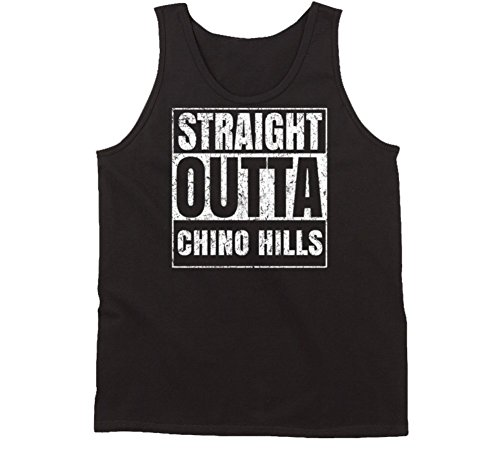 Straight Outta Chino Hills City Worn Look Parody Tanktop L - Of Chino City Hills
