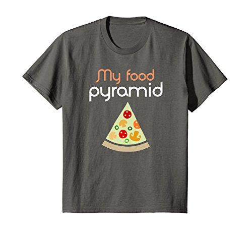 Kids Pizza tshirt My food pyramid shirt Calories tshirt Food 12 Asphalt