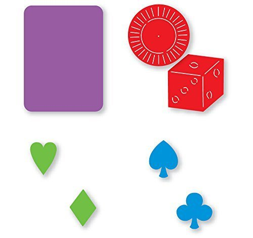 Sizzix Sizzlits Marie Cole Design Game Set 4 Dies Card Symbols, Playing Card, Game Chip & Die by Provo Craft Ellison Sizzix Sizzlits ()