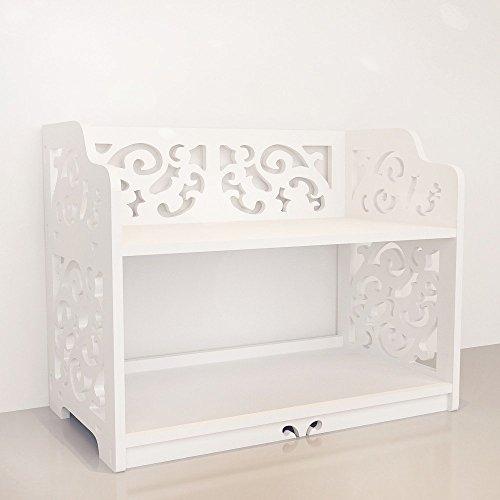 Revesun DIY Multi-Use Wooden Table Ladies Makeup Cosmetics Boxes Bookshelf and Kitchen Shelf White