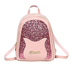 Ladies Sequin Shoulders Small Backpack