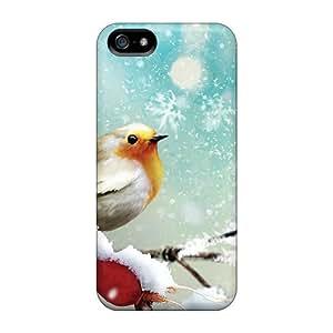 DaMMeke Iphone 5/5s Well-designed Hard Case Cover Little Winter Bird Protector