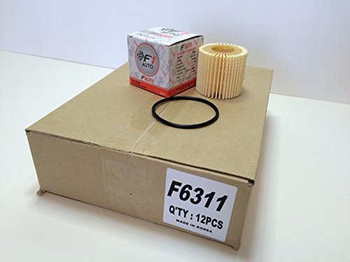 F1AUTO 12 Piece F6311 ENGINE OIL FILTER CARTRIDGE KIT