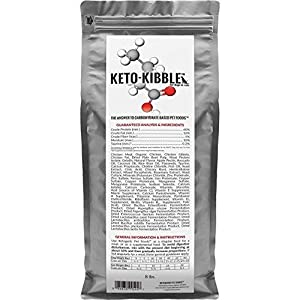 Ketogenic Pet Foods - Keto-Kibble – High Protein, Low Carb, Starch Free, Grain Free Dog & Cat Food - 8 lb. Bag