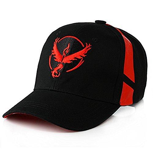 Embroidered Pokemon Go Team Mystic, Valor, Instinct Snapback Baseball hat cap by O-Flow Photo - Pokemon Gaming