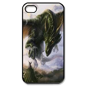 High Quality Phone Back Case Pattern Design 2Powerful Dragons- For Iphone 4 4S case cover