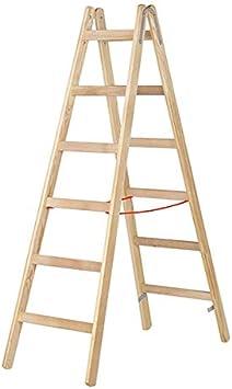 Escalera madera doble de 3 a 12 peldaños: Amazon.es: Bricolaje y herramientas