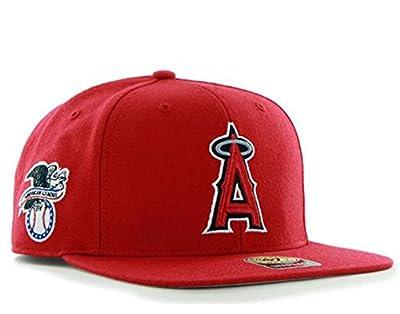 47 Brand Los Angeles Angels Sure Shot Mens Snapback Hat B-SRS04WBP-RD
