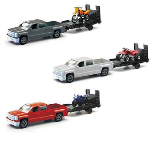 New Ray Toys Chevrolet Silverado Pick up w/ Bike or ATV - 1:43 - 3 Assorted Styles by NewRay
