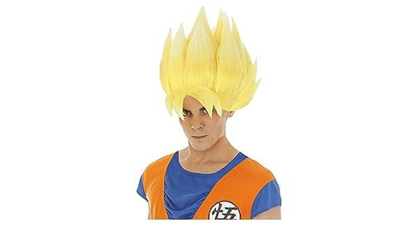 Chaks Dragon Ball Peluca Goku Super Sayajin Accesorio Traje Amarillo: Amazon.es: Juguetes y juegos