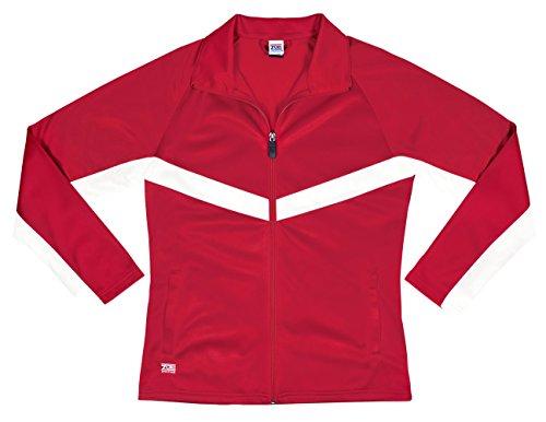Zoe Athletics Voyager Jacket RED/WHT YM (Jacket Cheerleader Red)