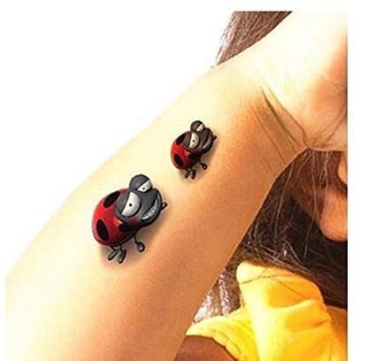 ruofengpuzi Body Art Mariquita Beatles 3D Flash Tatuaje Temporal ...
