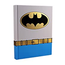 DC Comics Silver Buffalo BN0150 Batman Uniform Hard Cover Journal with Ribbon Book Mark, 160-Pages, 6 in. x 8 in