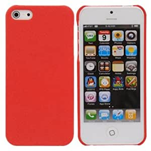 Red Dull Polish Sand Plastic Case Cover For iPhone 5 Random Shipment