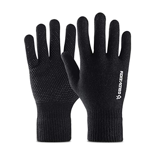 Thermal Knitted Winter Gloves Men Women Thick Warm Windproof Touchscreen Sport Gloves Outdoor Full Finger Gloves for…