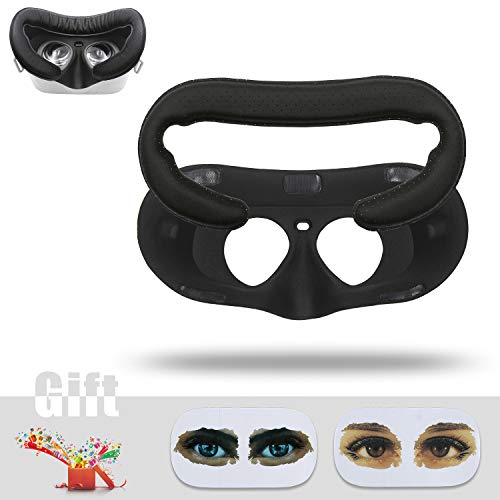 (AMVR VR Face PU leather Cover Mask & Face Cotton Bottom Pad Replaceable for Oculus Go Headset )