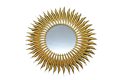 Buy Anokhi Gold Finish Metal Sun Mirror Wall Hanging Art For Home Decor Size 32 Inches Gold Online At Low Prices In India Amazon In
