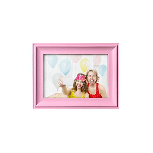 (RAPID CAT SHOP 3.5x5 inch Picture Frames ,Made of Wooden High Definition Glass for Table Top Display and Wall mounting pink photo frame)