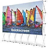 16' Indoor/Outdoor Quikscreen Pro Projector Screen for Backyard Theater Systems | Includes Padded Carrying Case | Easy to Set Up & Take Down (QS-200)