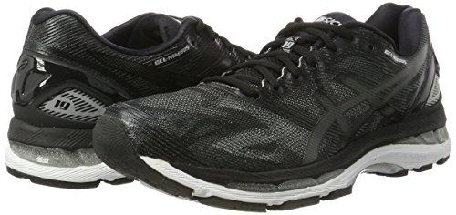 ASICS Gel-Nimbus 19 Womens Running Trainers T750N Sneakers Shoes (UK 3 US 5 EU 35.5, Black Onyx Silver 9099)