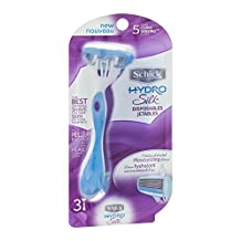 Schick Hydro Silk Disposable Razors, 3 each by Schick (Pack of 2)