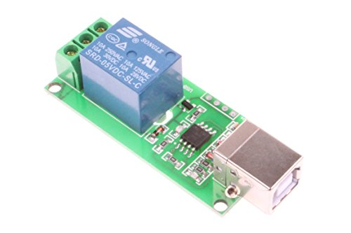 NOYITO 1-Channel 5V Computer USB Control Switch Relay Module Drive-free relay module Plug and Play Suitable for PC Smart Controller
