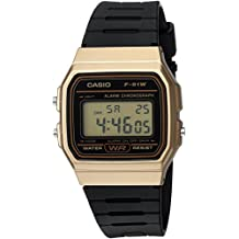 Casio Men's 'Classic' Quartz Metal and Resin Casual Watch, Color: Black (Model: F91WM-9A)