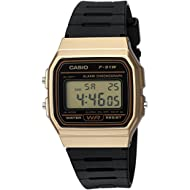 Men's 'Classic' Quartz Metal and Resin Casual Watch, Color:Black (Model: F-91WM-9ACF)