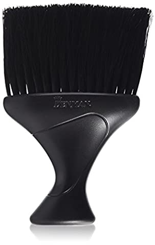 Denman Neck Duster Brush with Extra-Soft Nylon Bristles, Black Handle/Bris