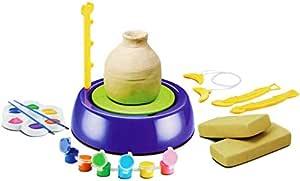 عجلة الفخار للاطفال , ازرق